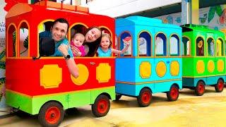 Колеса у автобуса - Детская песня | Песни для детей от Майи и Маши.