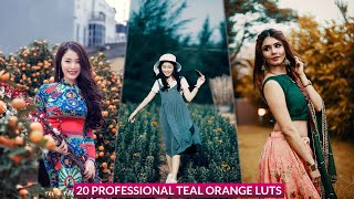 Free Download 20 Professional Teal Orange Color Lookup 3D luts Presets