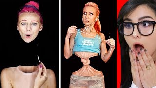 Crazy MAKEUP and Body Paint ILLUSIONS