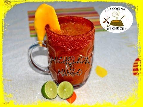 Michelada De Mango Deliciosa Bebida Preparada