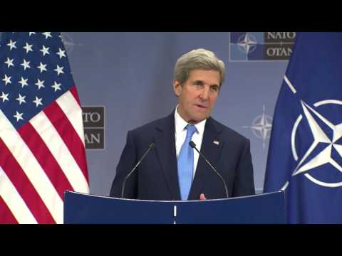 Secretary Kerry at the 2016 NATO Foreign Ministerial.