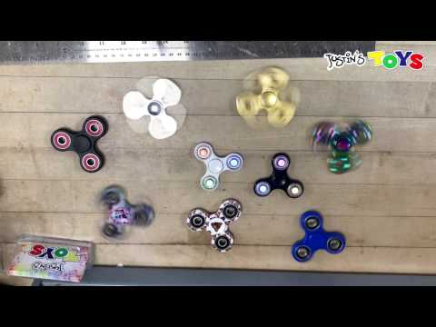 Metal vs Plastic Ceramic Fidget Spinner Spin Test - Longest Spin Time?