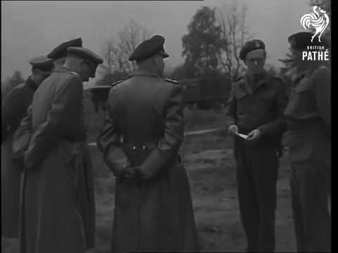 British And German Officers 1945