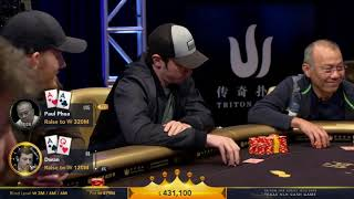 Tom Dwan Playing the BIGGEST Televised Pot Ever, 2.35 Million | Triton Poker