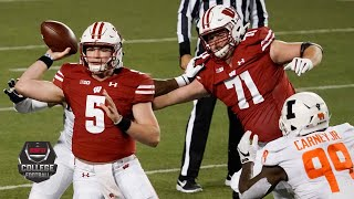 Check out highlights of the first big ten game 2020 college football season as illinois fighting illini take on graham mertz and no. 14 wiscon...