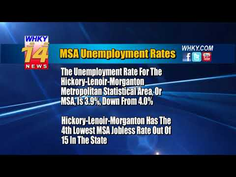 Unemployment Rates Decrease Across Hickory Metro, State