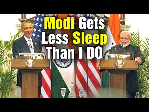 PM Modi gets less sleep than I do says US President Obama | Mango News