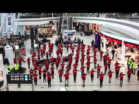 Jet2.com Flash Mob - Liszt Ferenc International Airport Budapest Hungary - HD
