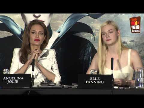 Malficent Press Conference London (2014) Angelina Jolie Ellen Fanning