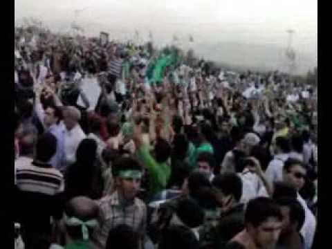 rahpeymayi tarafdaran Mir Hossein Mousavi Enghelab Azadi - meydan