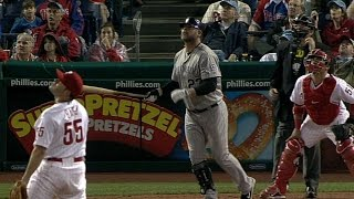 Giambi drives in seven on three homers