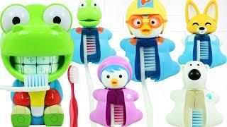 뽀로로 크롱 양치놀이 칫솔 장난감 치과병원 치카치카 멜로디 이빨닦기 의사놀이 Pororo Crong Brushing Teeth Toy