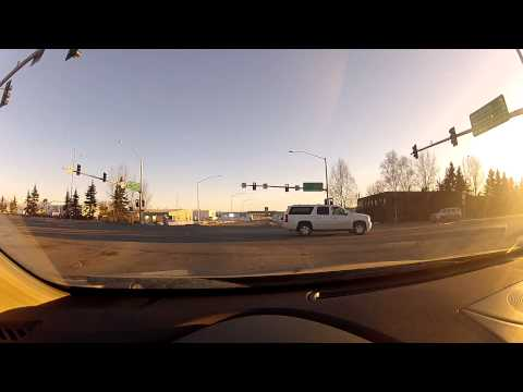 Sunny Evening Drive - Anchorage Alaska - March 8th 2014 - Gopro Camera - Part 2 of 2