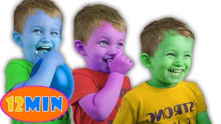 Learn Colors with MarkLand, Fruits, balloons and colored markers    Collection video for kids