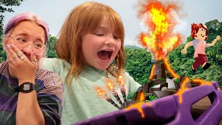 FAMiLY SURViVOR on ROBLOX!!  Adley and Friends play mini challenges to not get voted off the island