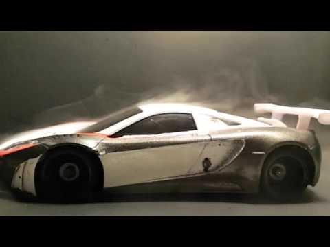 mini-z mclaren 12c gt3 aerodynamic testing - youtube