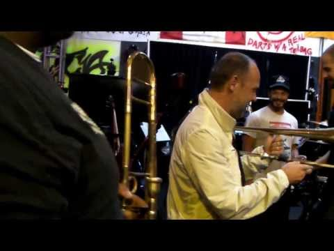 Lars Ulrich of Metallica plays The Soul Rebels trombone