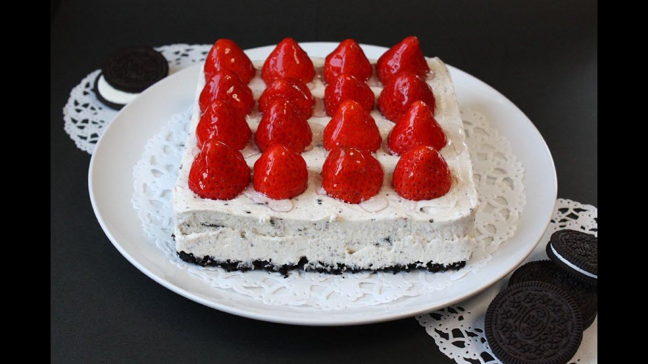 No bake Strawberry Oreo Cheesecake ノーベイク オレオ ...