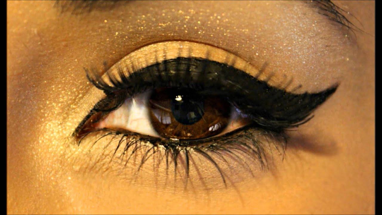 Perfect Winged Eyeliner Tutorial ♥ - YouTube