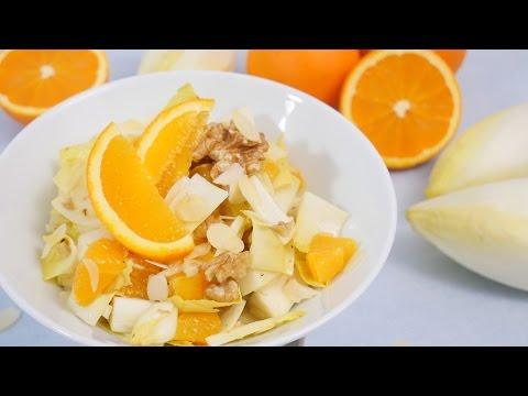 Chicorée Salat mit Orange & Walnüssen I Sehr gesund!