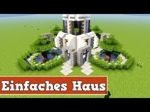 Wie baut man ein kleines einfaches Haus in Minecraft | Minecraft Modernes Haus Bauen Deutsch