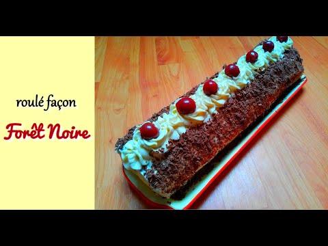 bûche-de-noël-façon-forêt-noire---recette-de-noël-#4
