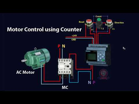 PLC Training Tutorial Bangla Class 11 Motor Control using Counter thumbnail