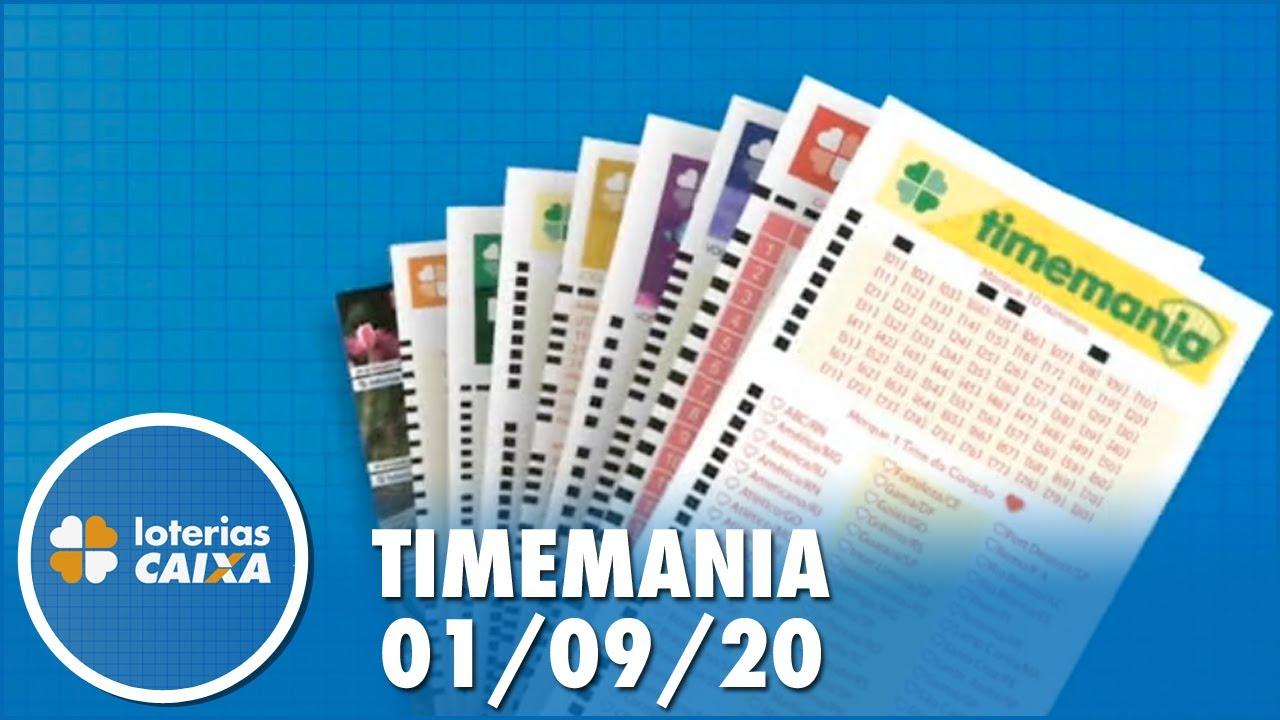 Resultado da Timemania - Concurso nº 1531 - 01/09/2020