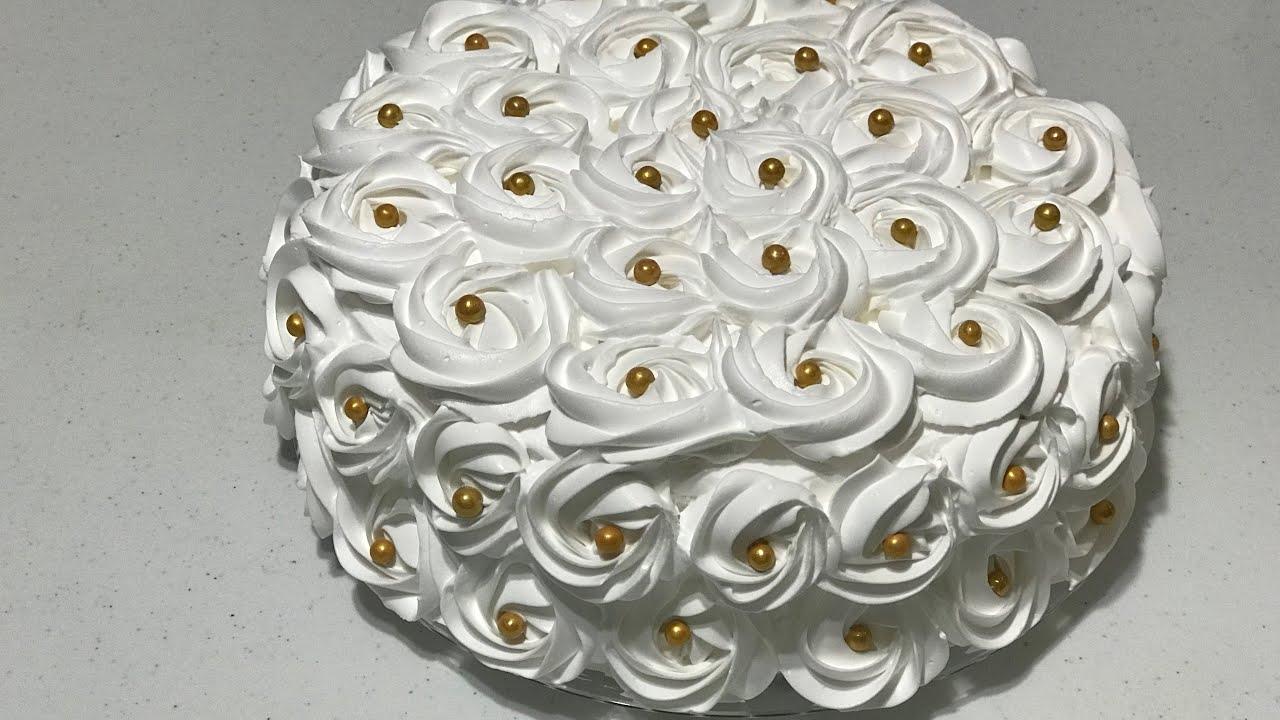 Pastel Decoración Con Rosetones Tip 1m Para Boda