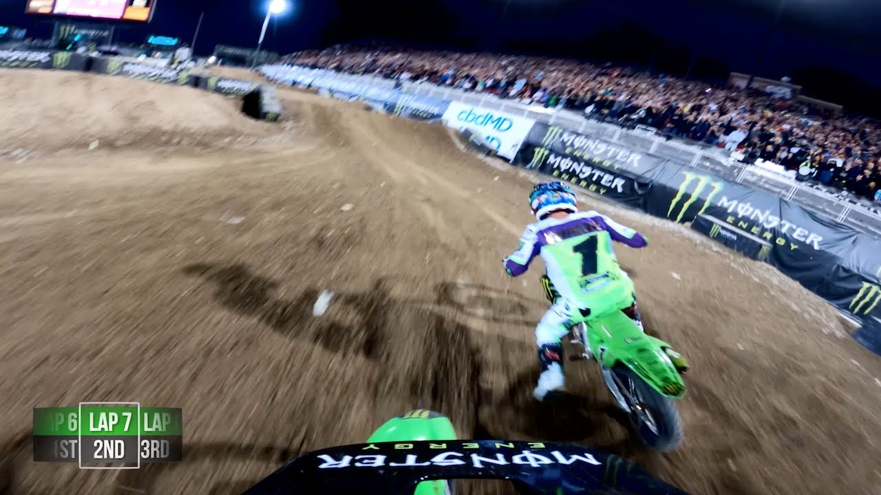 GoPro: Adam Cianciarulo Wins 450 Debut at 2019 Monster Energy Cup - Main Event #3 Highlights - Motor Informed