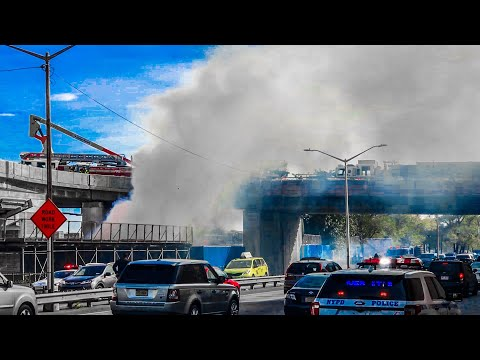 | FDNY 10-75 All-Hands Box 1222 | Major Fire Engulfs Construction Site at Marine Transfer Station