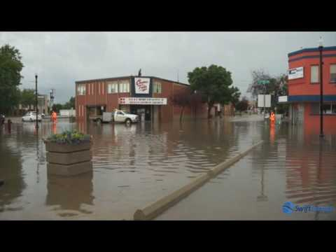 Summer storm brings flooding to the streets of Swift Current