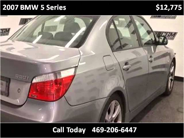 2007 BMW 5 Series Used Cars Dallas TX Travel Video