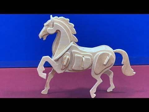 DIY 3D Wooden Puzzle Horse