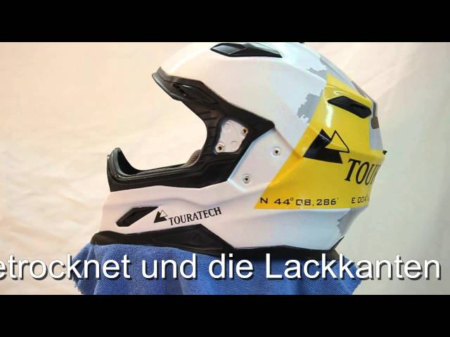 Touratech Carbonhelm mit Logo
