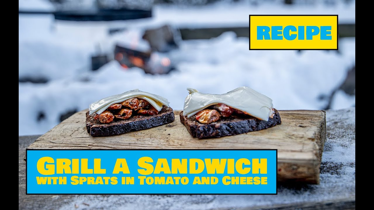Grilled Sprats in Tomato Sauce Sandwich / Grillleib sprotide ja juustuga - Easy Outdoors Cooking