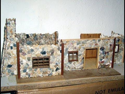 Maquete casa de pedra foto constru ao youtube - Casa de fotografia ...