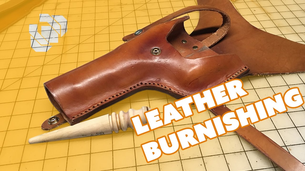 How to Burnish Leather w/GSTQ Fashions - Prop: Shop - YouTube