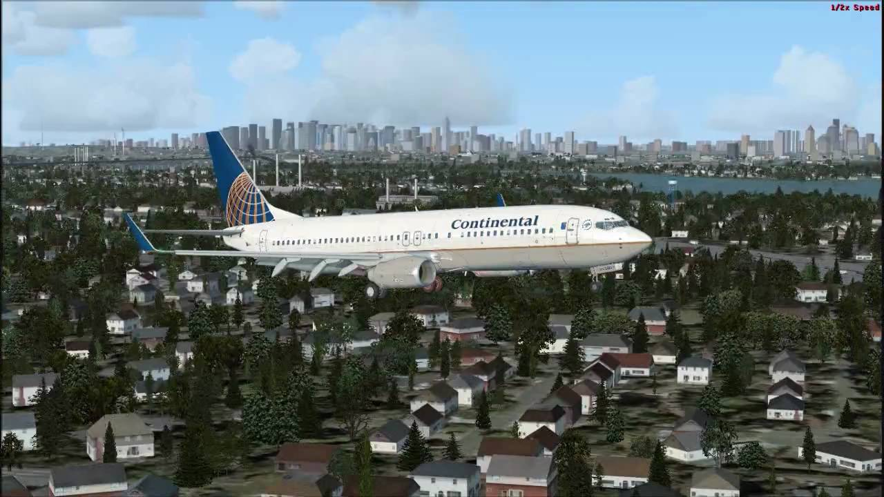 FSX Landing at New York (full settings)