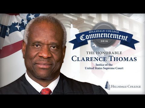 Clarence Thomas Speaks at Hillsdale College's Commencement Ceremony