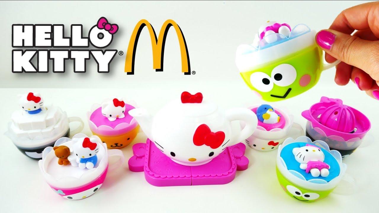 McDonalds Hello Kitty Tea Set Happy Meal Toys 2017 Full Set | Evies ...