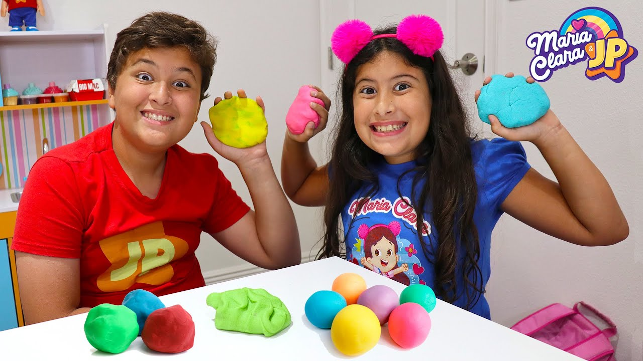 Maria Clara e JP ensinam a fazer massinha de modelar caseira / DIY Homemade Playdough for kids