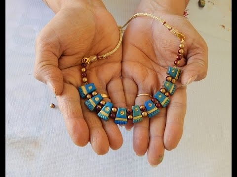 Terracotta jewellery tribe neclace do it yourself youtube solutioingenieria Image collections