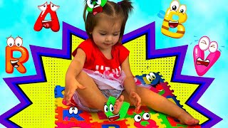ABC Song | Arina Pretend Play Learning English Alphabet with Toys & Kids Nursery Rhymes Songs