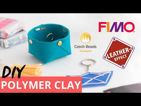 DIY FIMO Leather Effect Easy Tutorials