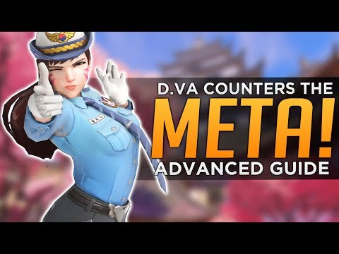 Overwatch: D.Va Counters EVERYTHING! - Advanced Guide