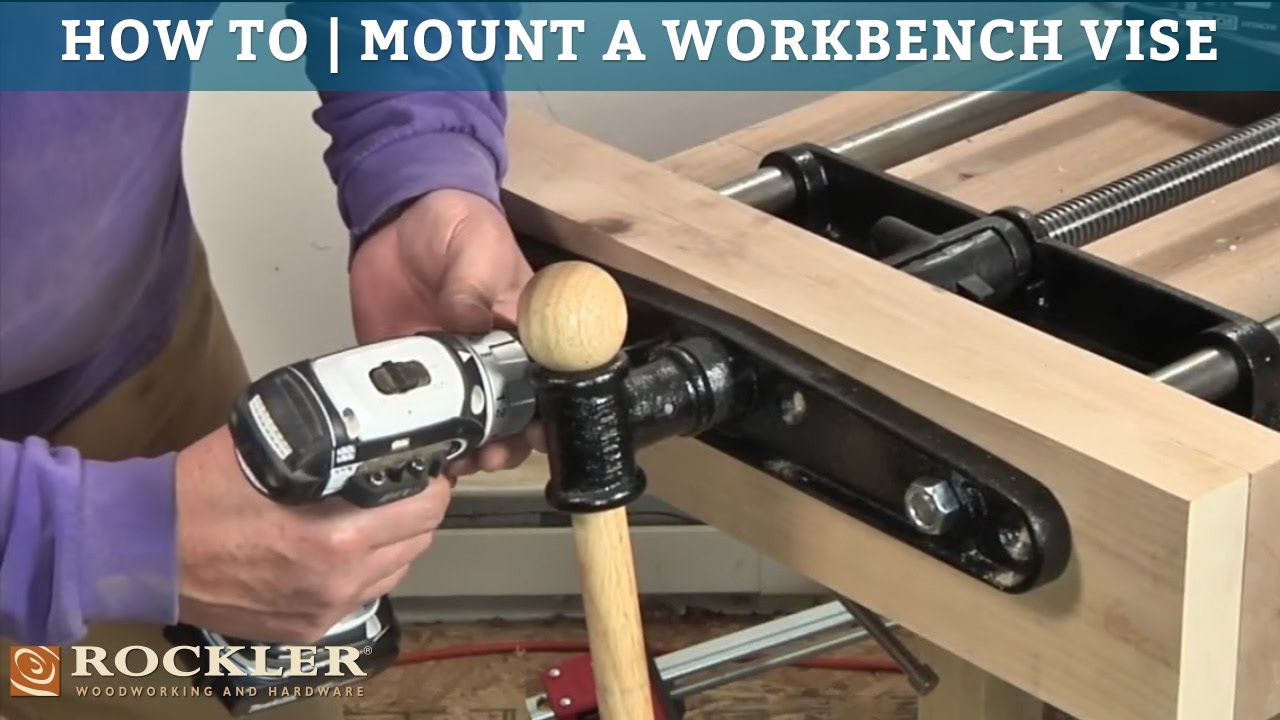 How To Mount A Workbench Vise Youtube