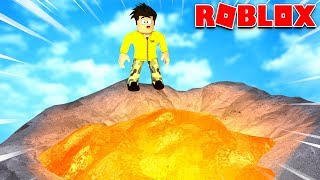 WHO DARES TO JUMP IN THE VOLCANO IN ROBLOX?