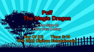 Peter, Paul & Mary - Puff The Magic Dragon  (Backing Track)
