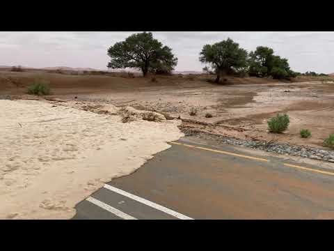 Water in the Sesriem Canyon, Sossusvlei (Namibia Floods 2021)
